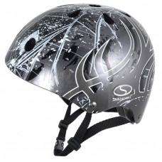 Шлем SMJ Sport Anarchy Metalic Silver, серый