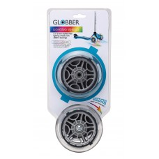 Светящиеся колеса Globber 125 мм (Wheel Set for Primo, Evo, Elite, Flow) прозрачные