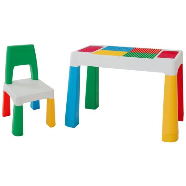 Детский многофункциональный столик и стульчик Tega Miltifun 5 в 1, мультиколор