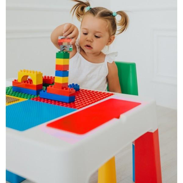 Детский многофункциональный столик и стульчик 5 в 1, мультиколор