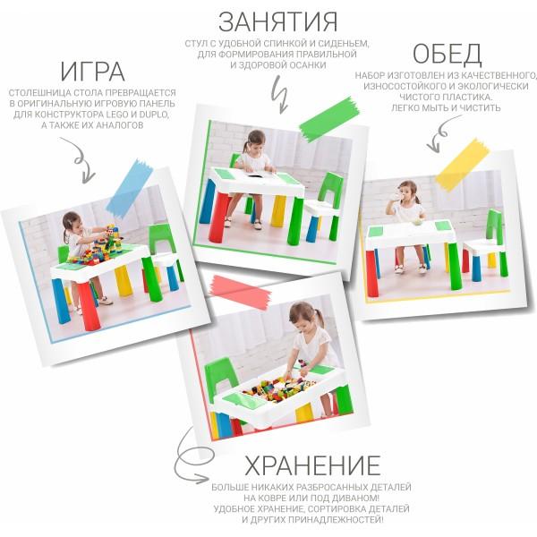 Детский многофункциональный столик и стульчик TEGA MULTIFUN 5 в 1, мультиколор