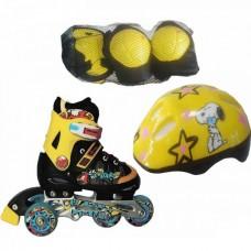 Детские Ролики Amigo Sport Combo (32-35) желтый (с защитой)