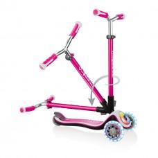 Самокат Globber Elite Prime Lights розовый